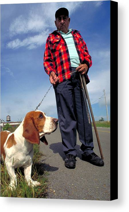 Dog Canvas Print featuring the photograph Man's Best Friend by Carl Purcell