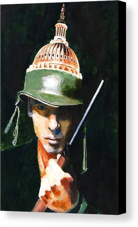 War Canvas Print featuring the painting Masters Of War by John Tartaglione