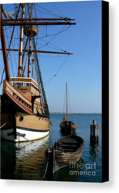 Plymouth Mass Canvas Print featuring the photograph Mayflower II by Mark Grayden