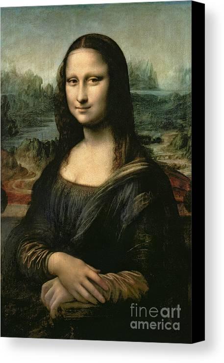 Mona Canvas Print featuring the painting Mona Lisa by Leonardo da Vinci