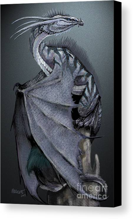 Dragon Canvas Print featuring the digital art Nickel Dragon by Stanley Morrison
