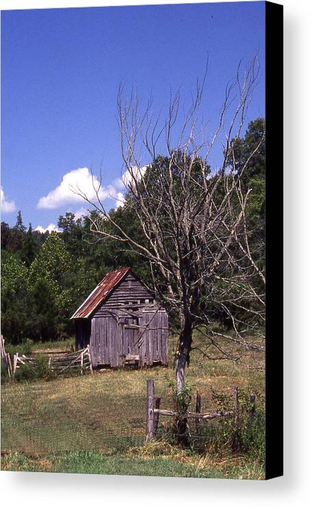 Canvas Print featuring the photograph Old Shack by Curtis J Neeley Jr