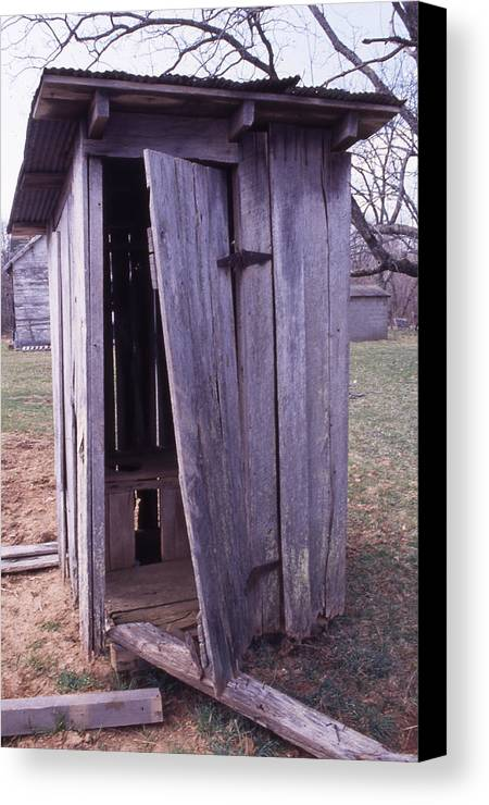 Canvas Print featuring the photograph Outhouse2 by Curtis J Neeley Jr