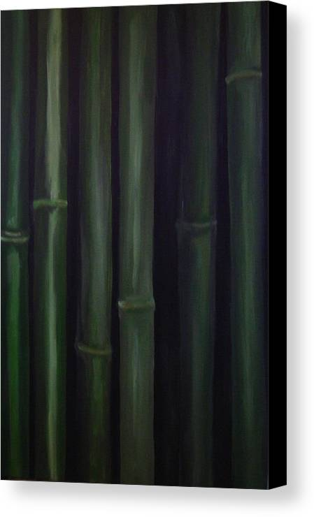 Huge Original Bamboo Canvas Print featuring the painting Patience by Jean Brewster