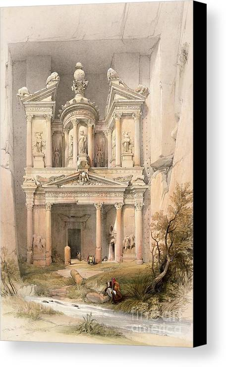Petra Canvas Print featuring the painting Petra by David Roberts