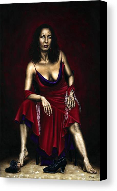 Portrait Canvas Print featuring the painting Portrait Of A Dancer by Richard Young