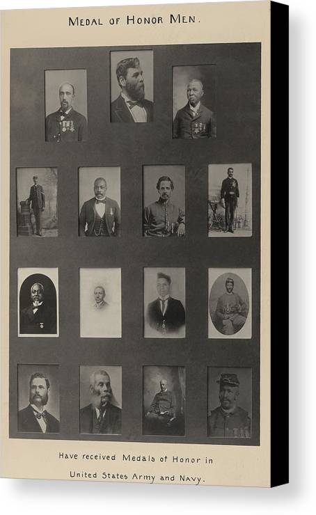 History Canvas Print featuring the photograph Portraits Of 15 African American by Everett