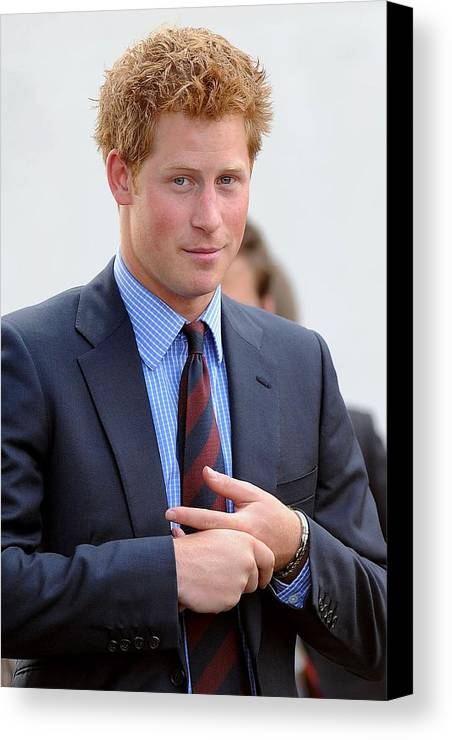Prince Harry Canvas Print featuring the photograph Prince Harry At A Public Appearance by Everett