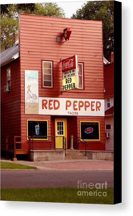 Redpepper Canvas Print featuring the photograph Red Pepper Restaurant by Steve Augustin