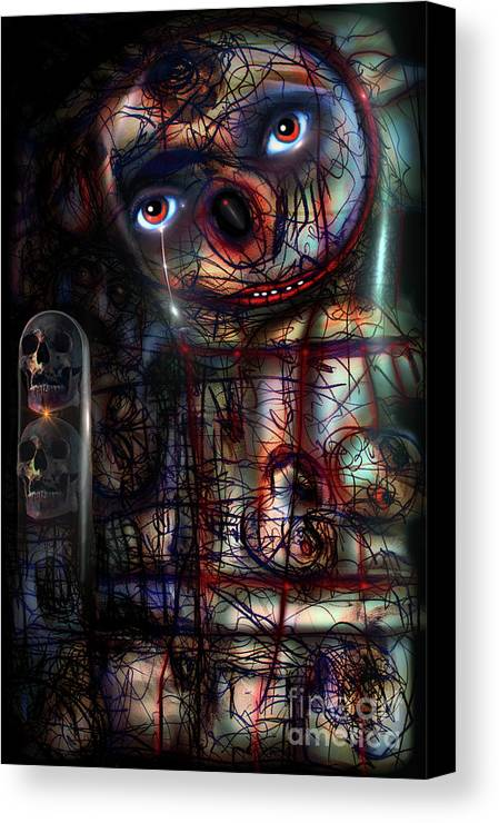 Bruce Canvas Print featuring the digital art Sex And Death And Me by Bruce Neeley