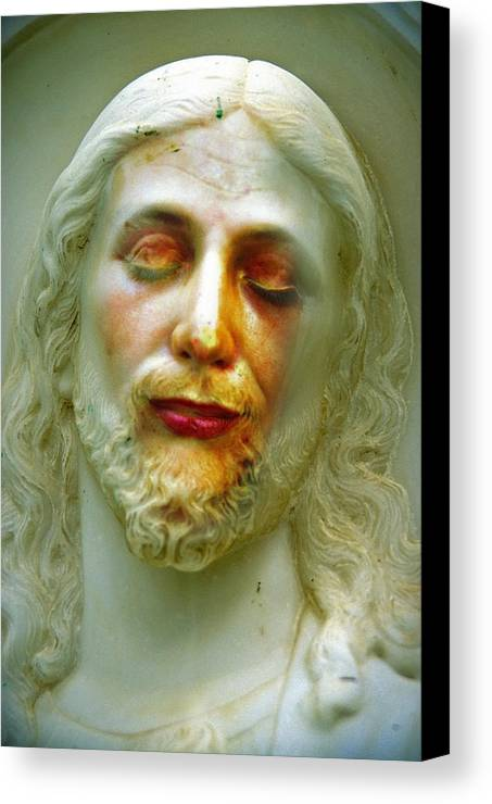 Jesus Canvas Print featuring the photograph Shesus by Skip Hunt