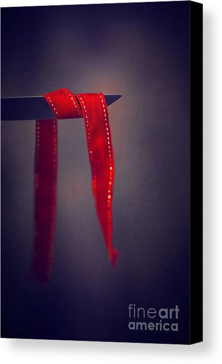 Knife Canvas Print featuring the photograph Soft Touch Of Ribbon by Svetlana Sewell