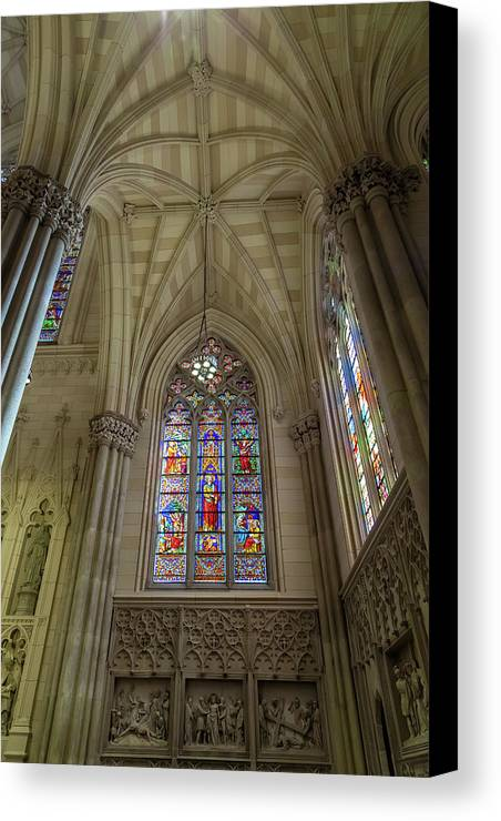 City Canvas Print featuring the photograph Structures Of St. Patrick Cathedral 3 by Jonathan Nguyen