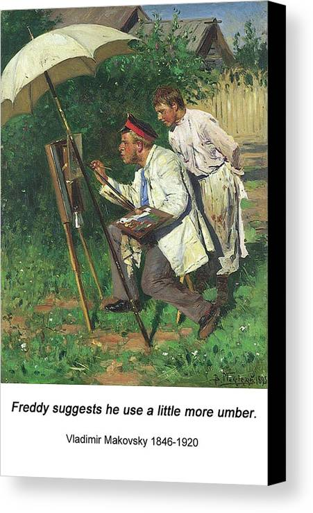 Altered Art Canvas Print featuring the digital art The Artist And The Apprentice by John Saunders