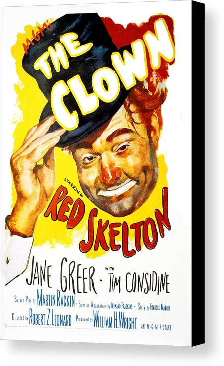 1950s Portraits Canvas Print featuring the photograph The Clown, Red Skelton, 1953 by Everett