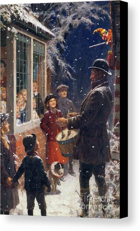 The Canvas Print featuring the painting The Entertainer by Percy Tarrant