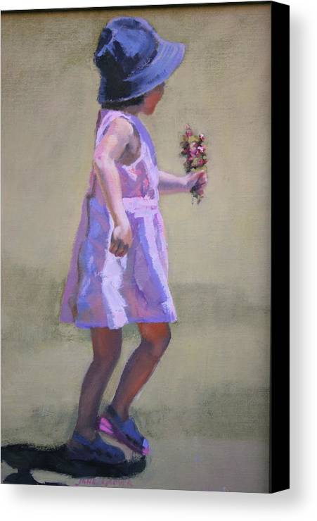 Figure Canvas Print featuring the painting The Gift by Jane Grover