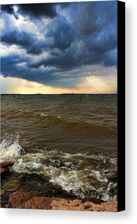Storm Canvas Print featuring the photograph Whitecaps by Carolyn Fletcher
