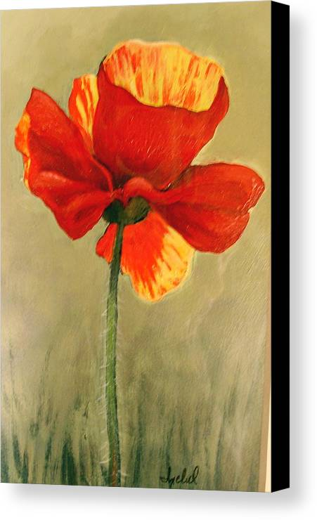 Flower Canvas Print featuring the painting Wildflower 2 by Ixchel Amor
