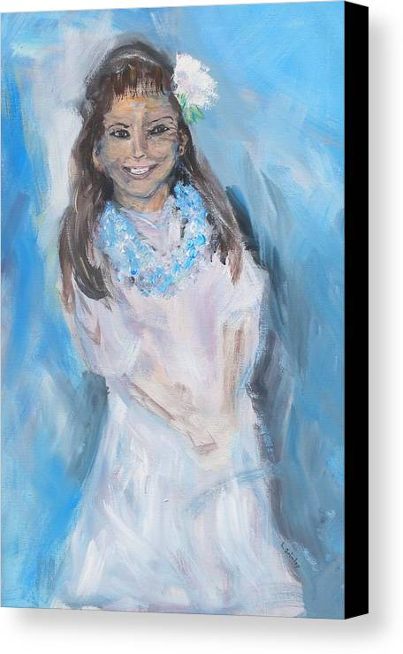 Young Girl Canvas Print featuring the painting Young Girl by Lessandra Grimley