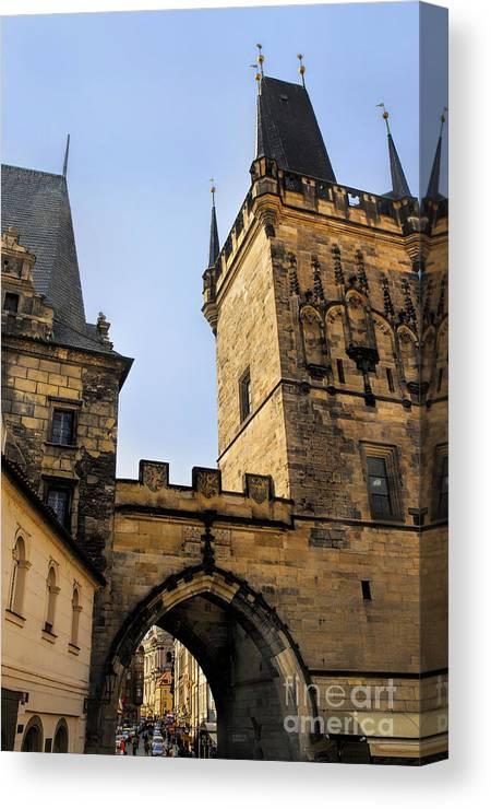 Prague Canvas Print featuring the photograph Charles Bridge Prague by Brenda Kean