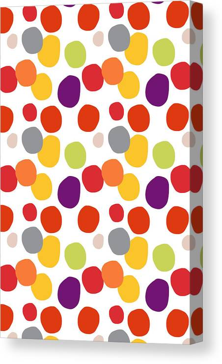 Circles Canvas Print featuring the painting Colorful Confetti by Linda Woods