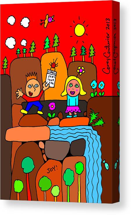 Doodle Art Canvas Print featuring the digital art Having A Friend Like You by Corey Couturier