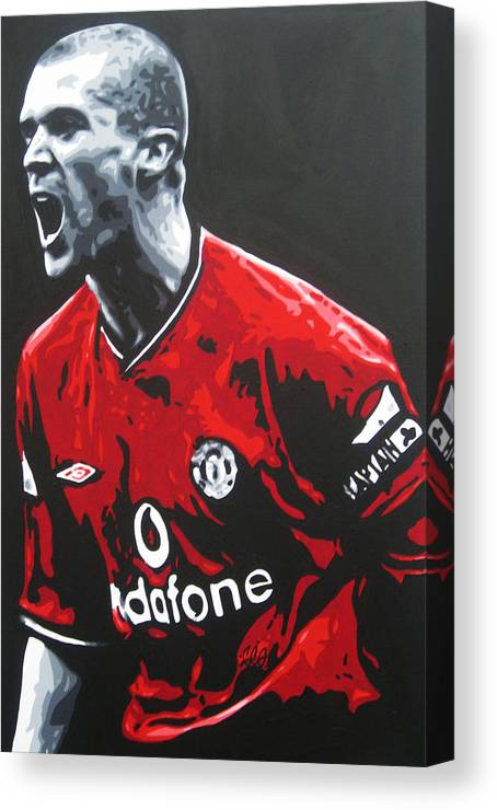547191f866f Roy Keane Canvas Print featuring the painting Roy Keane - Manchester United  Fc by Geo Thomson