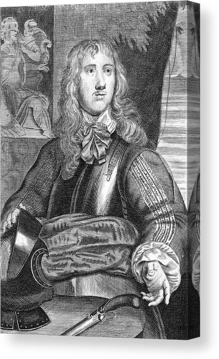 Sir Canvas Print featuring the drawing Sir Charles Lucas Military Commander by Mary Evans Picture Library