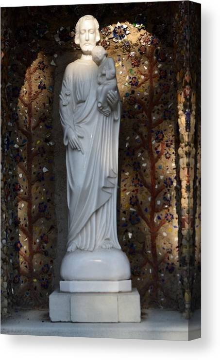 Saints Canvas Print featuring the photograph St. Joseph With Baby Jesus by Molly Montgomery