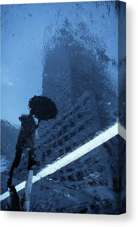 Blues Canvas Print featuring the photograph Swinging In The Rain (from The Series new York Blues) by Dieter Matthes