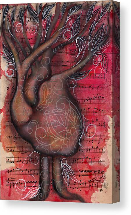 Heart Canvas Print featuring the painting Tree Of Life by Abril Andrade Griffith