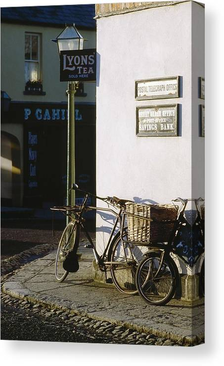 Bicycle Canvas Print featuring the photograph Bunratty Castle And Folk Park, Co by The Irish Image Collection