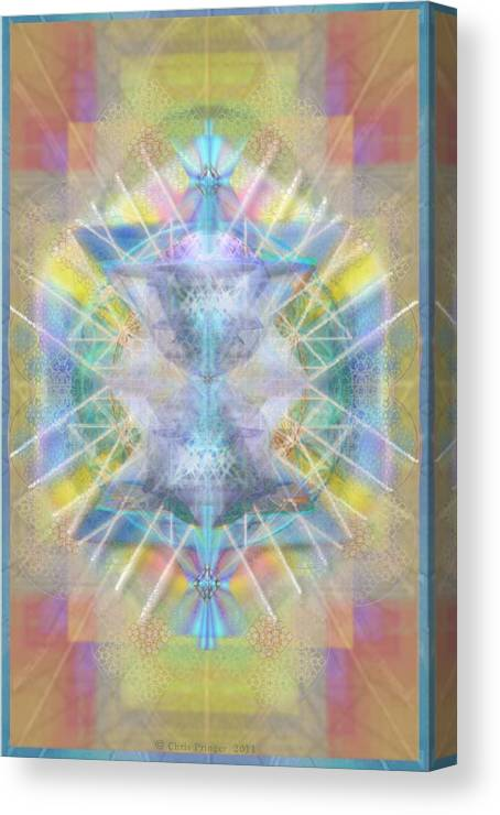 Chalice Canvas Print featuring the digital art Chalice Of Vortexes Chalicell Rings On Renaissance Back by Christopher Pringer