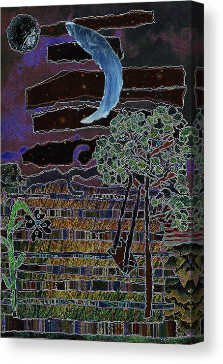 Wishing To Enjoy A Beautiful Evening Canvas Print featuring the mixed media Fabric Of Life 2 by Kenneth James