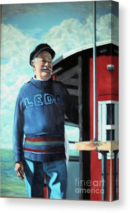 Portrait Canvas Print featuring the painting R. Sylvester Founder Maritime Museum by Michael John Cavanagh