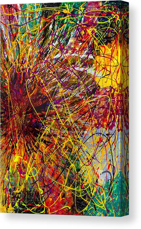 Abstract Canvas Print featuring the painting 16-10 String Burst by Patrick OLeary