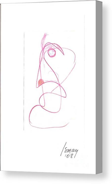 Angry Canvas Print featuring the drawing Angry Face - Gesture Drawing by Rod Ismay