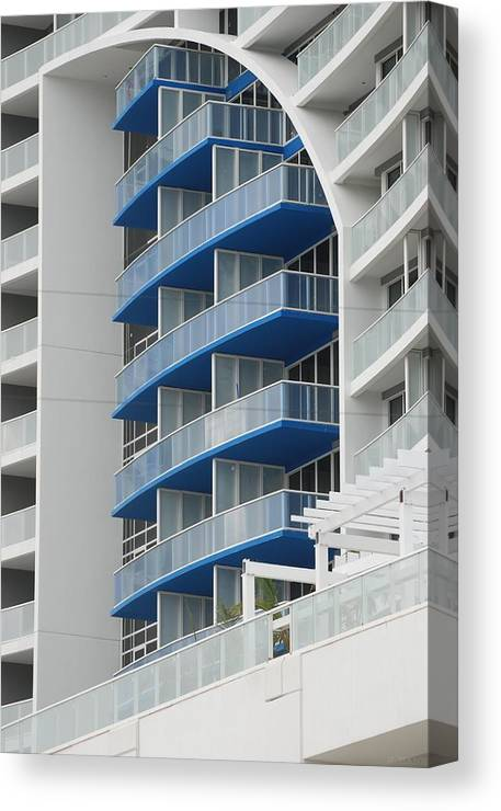 Architecture Canvas Print featuring the photograph Blue Bayu by Rob Hans