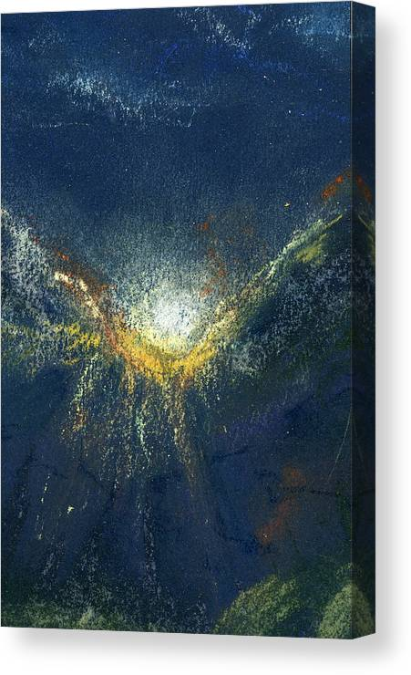Landscape Canvas Print featuring the painting Celestial by Marilyn Barton