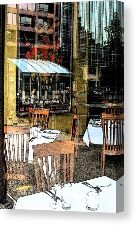 Collage Canvas Print featuring the photograph Downtown Collage 2 by Gary Everson