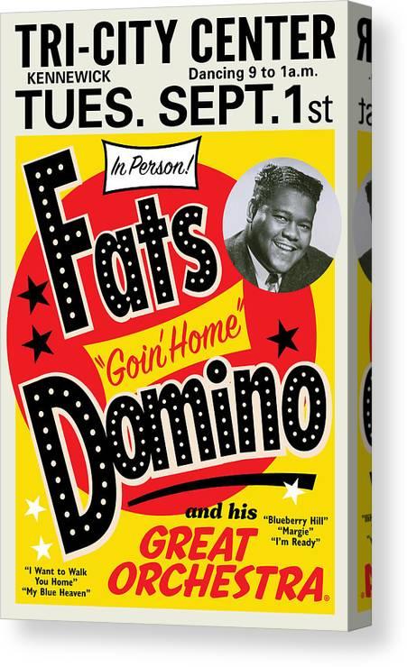 Fats Domino Canvas Print