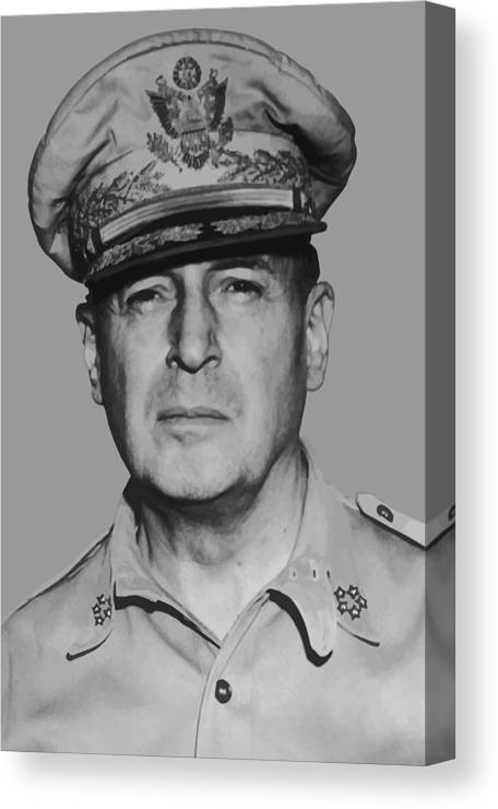 Douglas Macarthur Canvas Print featuring the painting General Douglas Macarthur by War Is Hell Store