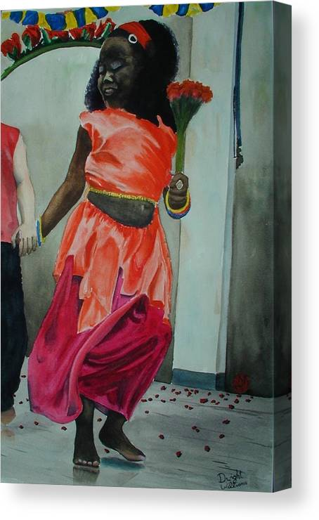 Person Canvas Print featuring the painting Let's Dance by Dwight Williams