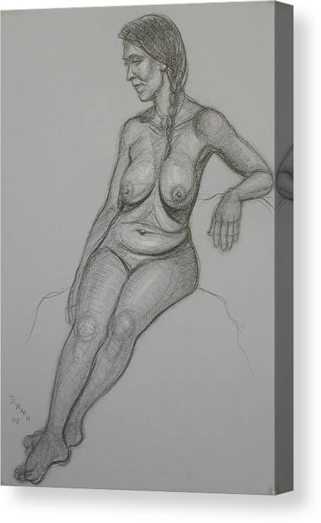 Realism Canvas Print featuring the drawing Loma 1 by Donelli DiMaria