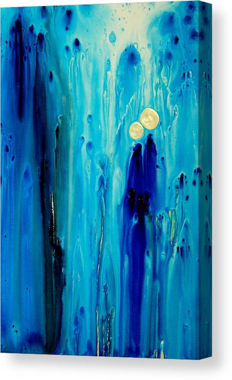 Abstract Art Canvas Print featuring the painting Never Alone by Sharon Cummings