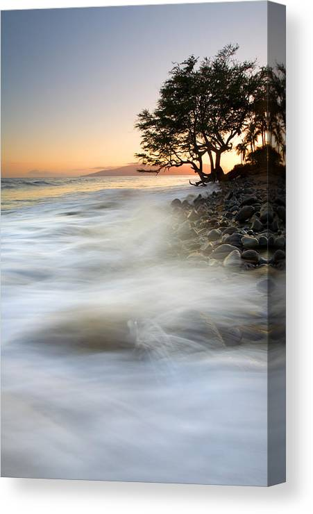 Sunset Canvas Print featuring the photograph One Against The Tides by Mike Dawson