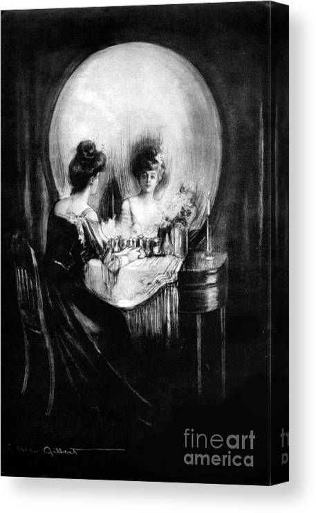 Optical Illusion All Is Vanity 1892 Canvas Print
