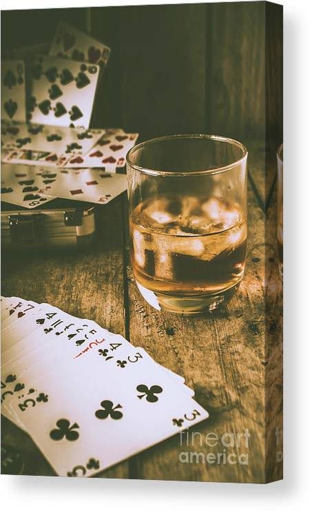West Canvas Print featuring the photograph Table Games And The Wild West Saloon by Jorgo Photography - Wall Art Gallery