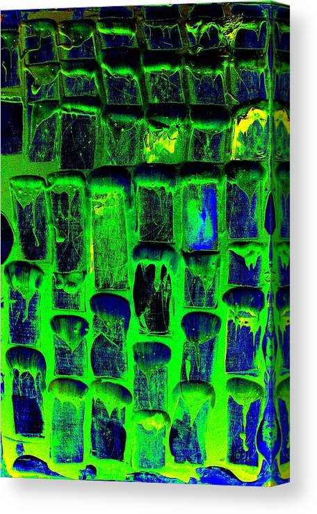 Abstract Prints Canvas Print featuring the painting Untitled by Teo Santa